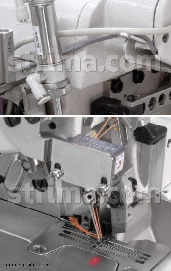 Pneumatic thread / tape cutter for 737Q / 747Q overlock