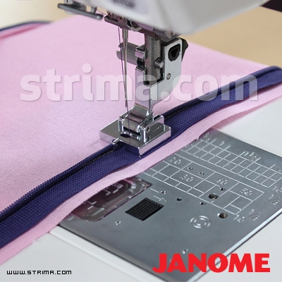 202144009 JANOME - Invisible zipper foot (for machines with 9 mm stitch width)