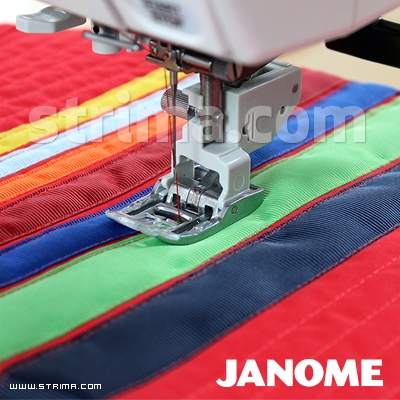 859819017 JANOME - Foot with upper feed (for machines with 9 mm stitch width)