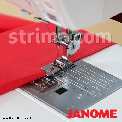 859804008 JANOME - Hemming foot for 3mm (for machines with 9 mm stitch width)