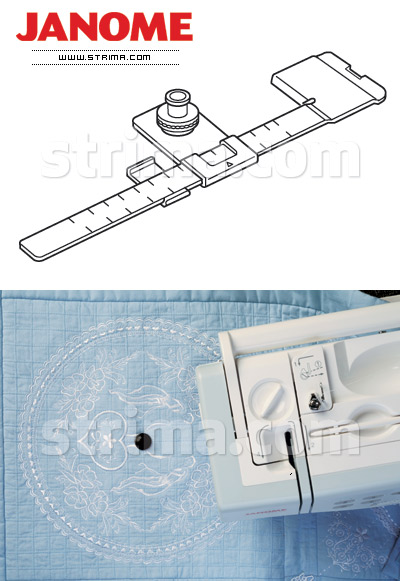 202106009 JANOME - Circular Sewing Attachment (for machines with 9 mm stitch width)