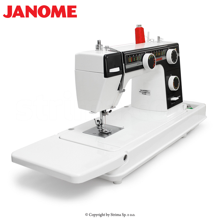 JANOME 393 OLD SCHOOL - Multifunctional sewing machine with suitcase