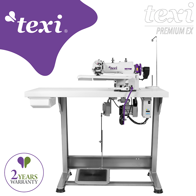 Blind stitch machine for light and medium materials, with AC Servo motor and needle positioning - complete sewing machine with 2 years warranty - TEXI ACCURA PREMIUM EX