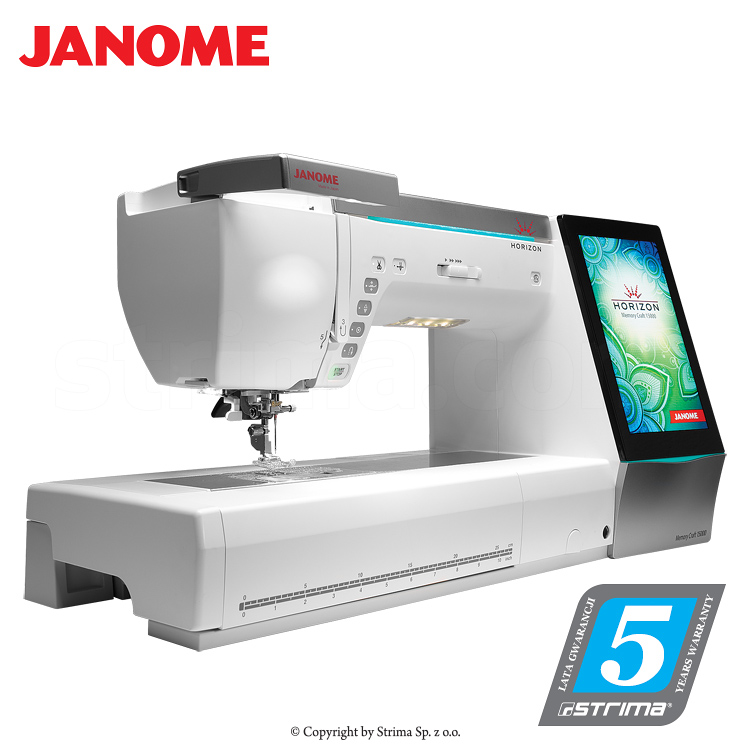 JANOME MEMORY CRAFT 15000 HORIZON - Computerized sewing and embroidering machine