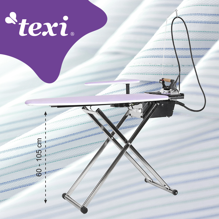 TEXI SMART S+B - Ironing table with automatic steam generator and iron with intelligent programming of fan operation time