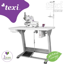 Button sewing machine with electronic selection of stitches number and built-in AC Servo motor - complete sewing machine with 2 years warranty - TEXI X PREMIUM EX
