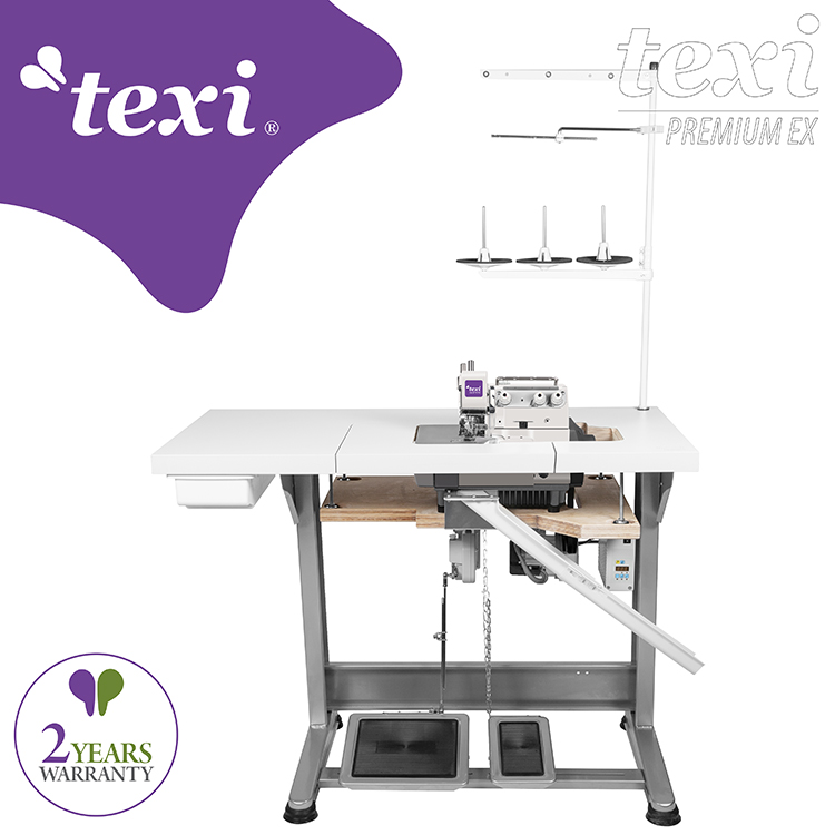 TEXI TRE 04 PREMIUM EX - 3-threads overlock machine with AC Servo motor - complete sewing machine with 2 years warranty