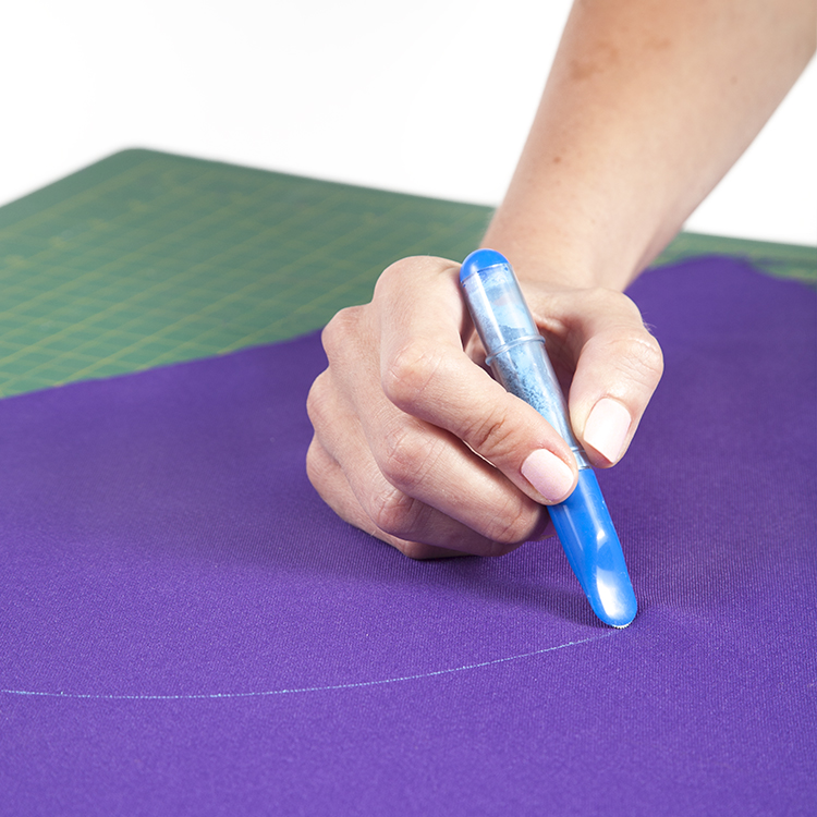 Tailor chalk pen with applicator, blue color
