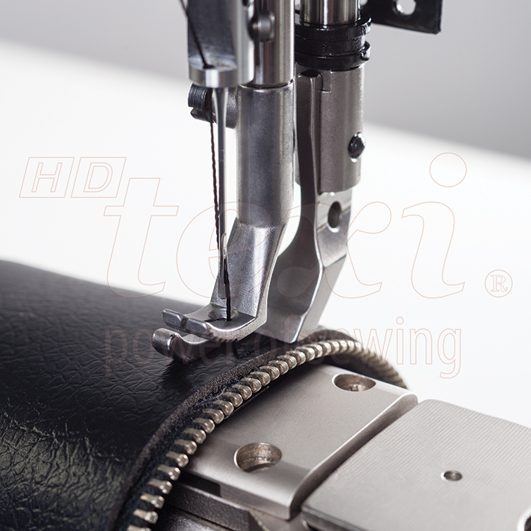 TEXI HD FORTE CILINDRO UF PREMIUM - Upholstery and leather lockstitch cylinder-bed machine, unison feed, large hook, AC Servo motor