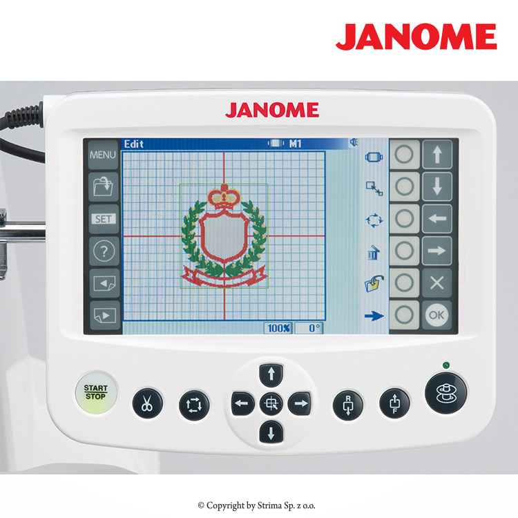 JANOME MB-4S - Compact, one-head, four-needle embroidery machine with a big hook
