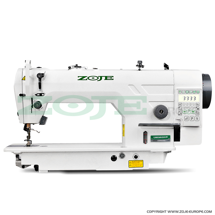 ZOJE ZJ9803AR-5-D3/01-PF - Automatic lockstitch machine for medium and heavy materials, with built-in AC Servo motor and control box, with closed lubrication circuit - machine head