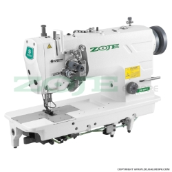 2- needle lockstitch machine for medium and heavy materials, split needles, large hooks - machine head - ZOJE ZJ8750A-5