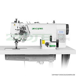2- needle automatic lockstitch machine for light and medium materials, with built-in AC Servo motor, split needles - machine head - ZOJE ZJ2845-BD-D3/PF
