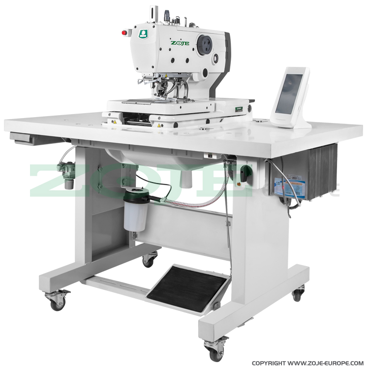 Electronic eyelet buttonhole machine - complete sewing machine