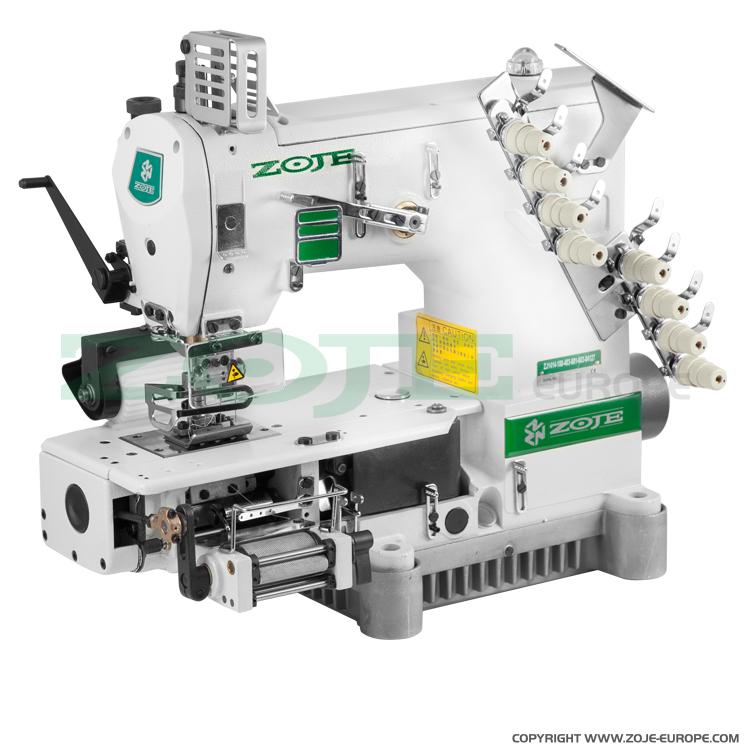40needle Semicylinder Double Chainstitch Machine With Puller For Mesmerizing 4 Needle Elastic Sewing Machine