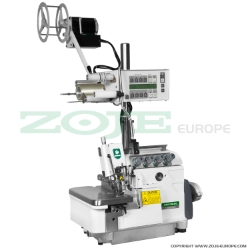 4-thread overlock (safety stitch) machine, metering device, for light and medium materials - machine head