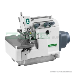 3-thread overlock machine, hemstitch, for light and medium materials, direct drive needle bar, built-in AC Servo motor, needles positioning - machine head