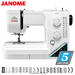 Multifunctional sewing machine, 19 stitch programs - JANOME JUBILEE 60507