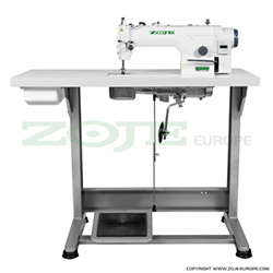 Lockstitch machine for medium and heavy materials, with built-in AC Servo motor and control box, with needle positioning - complete sewing machine