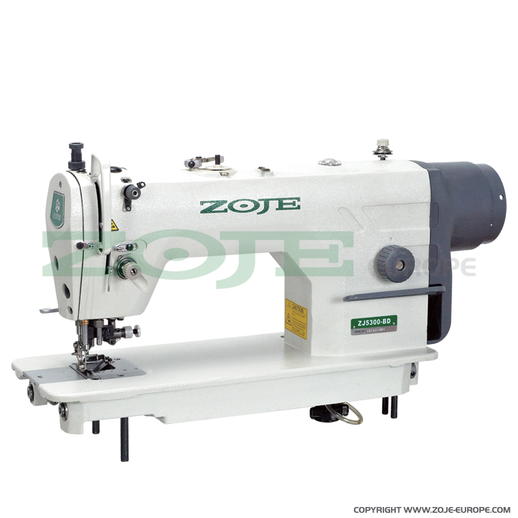 ZOJE ZJ5300-48-BD SET - Lockstitch machine with side trimmer, for light and medium materials, with built-in AC Servo motor and needle positioning - complete sewing machine