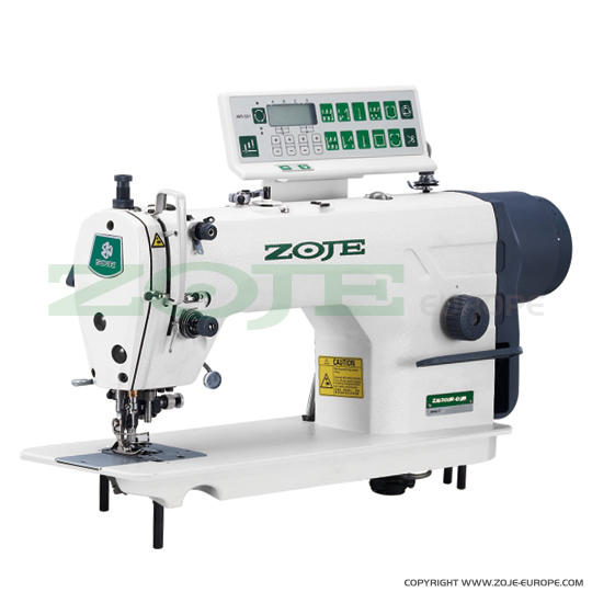 Automatic lockstitch machine with trimmer, for light and medium materials, with built-in AC Servo motor - complete sewing machine