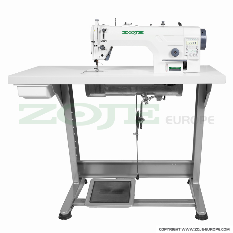 ZOJE ZJ9903AR-D3B/PF SET - Automatic lockstitch machine, needle feed, medium and heavy materials, built-in AC Servo motor, control box, closed lubrication circuit - complete machine