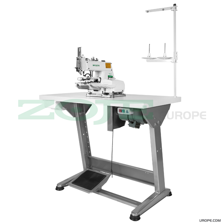 Button sewing machine with induction motor - complete sewing machine