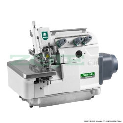 3-thread overlock machine for light and medium materials, direct drive type needle bar, built-in AC Servo motor and needle positioning - complete sewing machine