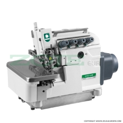 4-thread overlock (safety stitch) machine, light and medium materials, direct drive type needle bar, built-in AC Servo motor, needles positioning - SET