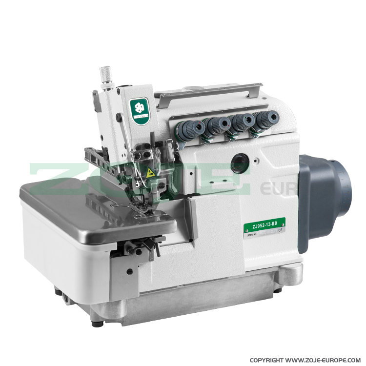 4-thread overlock (safety stitch) machine, light and medium materials, direct drive needle bar, built-in AC Servo motor, needles positioning - SET
