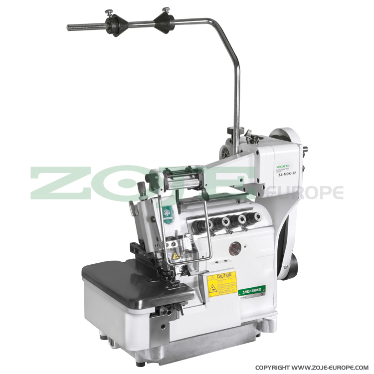 ZOJE ZJ952-13-MDK/62 SET - 4-thread overlock (safety stitch) machine, mechanical metering device, light and medium materials, with energy-saving Servo motor - complete sewing machine