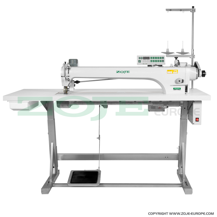 ZOJE ZJ9701LAR-D3-800/PF SET - Automatic long arm lockstitch machine with puller - complete sewing machine