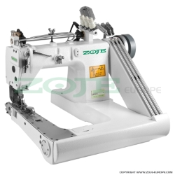 Feed-off-the-arm chainstitch machine with double puller and energy-saving AC Servo motor - complete sewing machine - ZOJE ZJ928XH-2PL 6.4mm SET