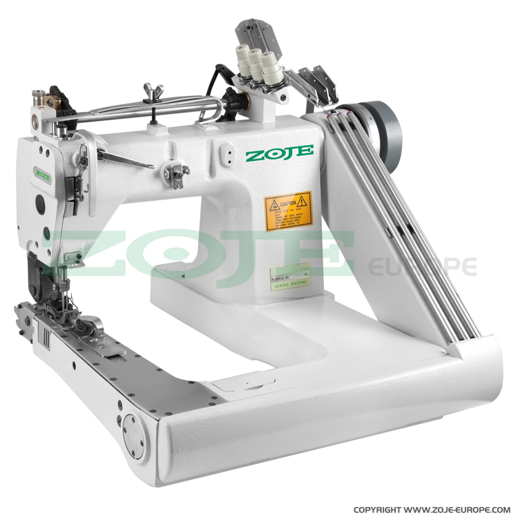 Feed-off-arm chainstitch machine with double puller and energy-saving AC Servo motor - complete sewing machine