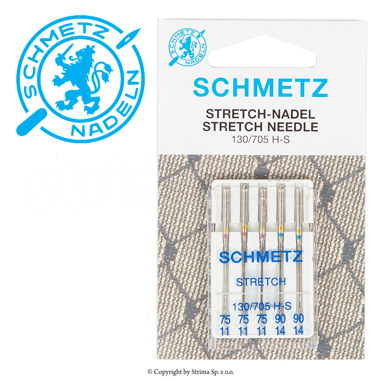 SCHMETZ stretch needles, 5pcs. 3x75, 2x90 - 130/705 H-S V3S
