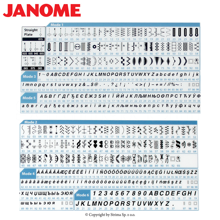 Multifunctional sewing machine, 496 programs - JANOME SKYLINE S5