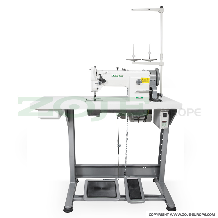 Lockstitch machine for upholstery and leather, unison feed with Servo motor  - complete machine
