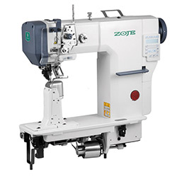 Zoje automatic post-bed lockstitch machine for medium and heavy material with bottom, needle and upper roller feed, with AC Servo motor - machine head - ZOJE ZJ9610SA-D3-M-3