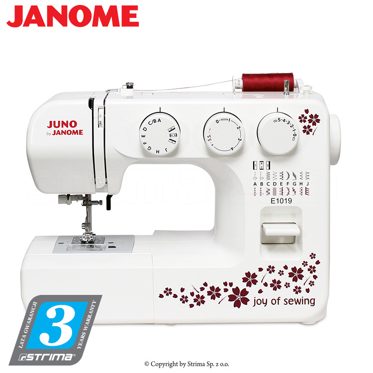 JANOME JUNO E1019 - Multifunctional sewing machine, 19 sewing programs