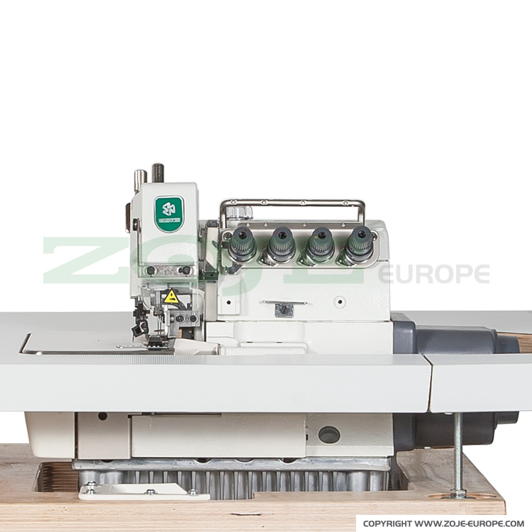5-thread overlock (safety stitch) machine for light and medium materials, with built-in AC Servo motor and needles positioning - machine head