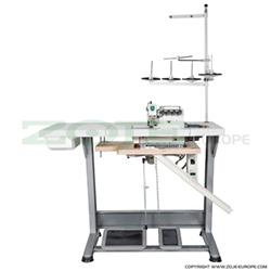 5-thread overlock (safety stitch) machine for light and medium materials, with built-in AC Servo motor and needles positioning - complete set