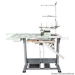 5-thread overlock (safety stitch) machine for light and medium materials, with built-in AC Servo motor and needles positioning - complete machine