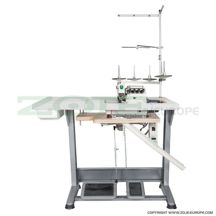 ZOJE ZJ880-5-70-BD SET - 5-thread overlock (safety stitch) machine for light and medium materials, with built-in AC Servo motor and needles positioning - complete machine