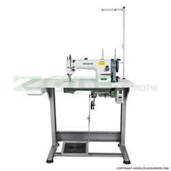 Upholstery and leather lockstitch machine, compound feed, large hook - complete machine