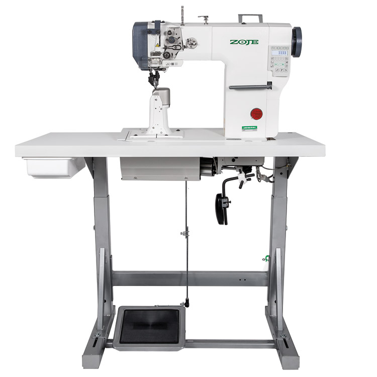 ZOJE ZJ9610SA-D3-M-3 SET - Automatic post-bed lockstitch machine for medium and heavy material with bottom, needle and upper roller feed, with AC Servo motor - complete machine