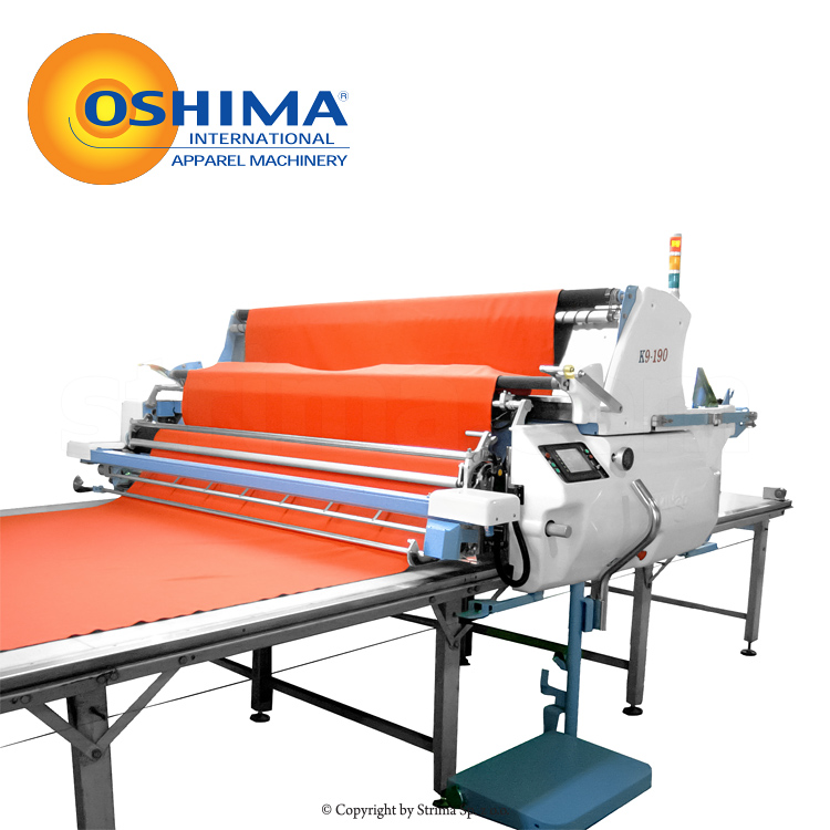 K9-190-L OSHIMA + TABLE 12M SET - Automatic spreading machine, complete with the table 12 m, control panel on the left side
