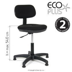 Industrial upholstered chair with pneumatic lift