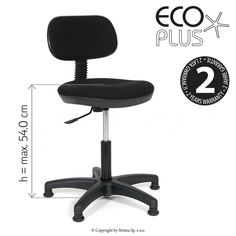 ECO PLUS - Idustrial upholstered chair with pneumatic lift