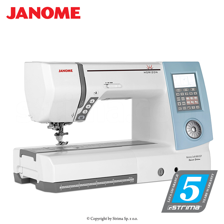 JANOME MEMORY CRAFT 8900QC P SE - Computerized sewing and quilting machine