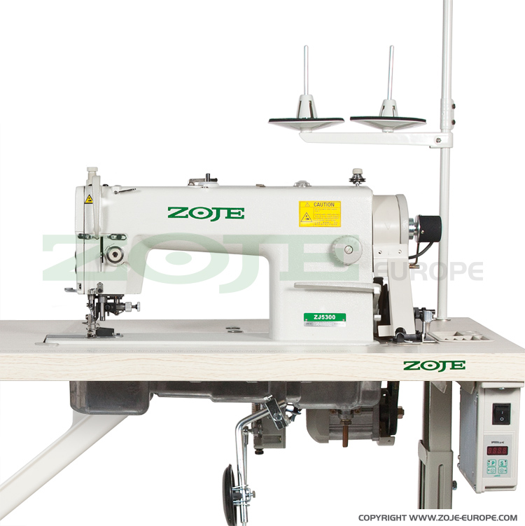 ZOJE ZJ5300-48 SERVO S SET - Lockstitch machine with trimmer, for light and medium materials - complete machine